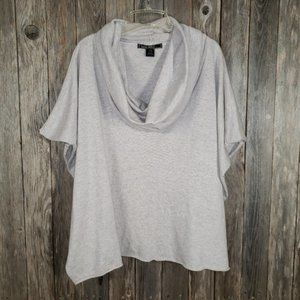 Love Stitch Gray Boho Poncho Sweater